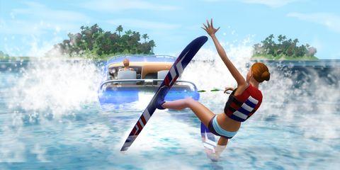 Fun, Recreation, Leisure, Summer, Surfing Equipment, Surfboard, Knee, Wave, Surface water sports, Extreme sport,