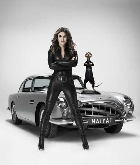 Liz Hurley Sports Catsuit For Commercial