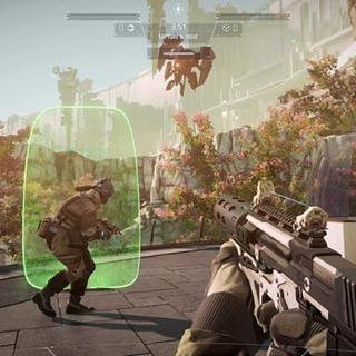 Machine gun, Shooter game, Air gun, Shotgun, Shooting, Light fixture, Pc game, Fictional character, Machine, Games,