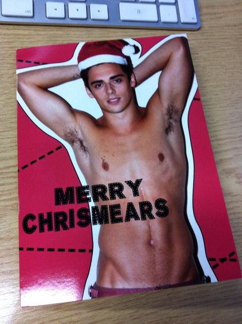 Gay Spy: Sexy diver Chris Mears poses for hottest Christmas card ever
