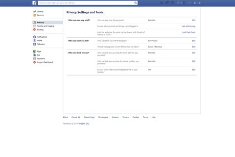How do I make my Facebook profile private?