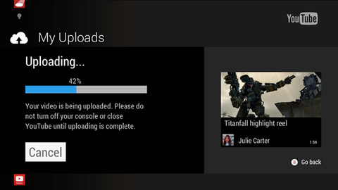 YouTube video uploads coming to Xbox One