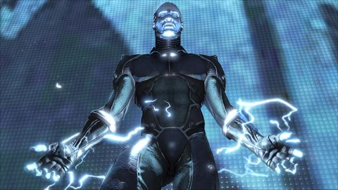 Fictional character, Superhero, Electric blue, Cobalt blue, Space, Armour, Chest, Animation, Illustration, 3d modeling,