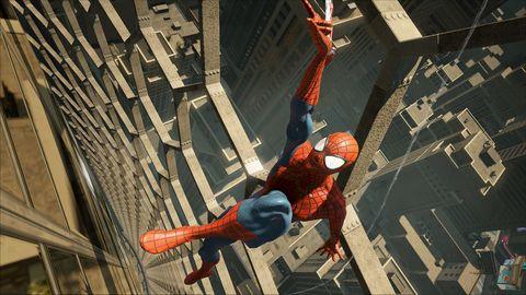 Spider-man, Fictional character, Superhero, Carmine, Fiction, Animation, Illustration, Action-adventure game, Hero, Animated cartoon,