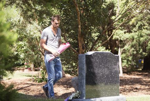 Jeans, People in nature, Denim, Soil, Trunk, Park, Memorial, Cemetery, Headstone, Woodland,