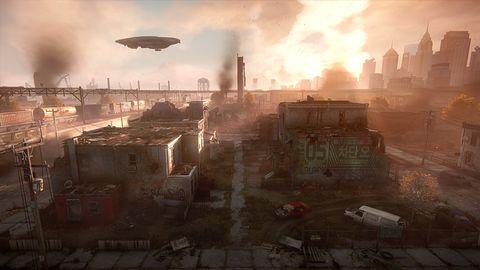 Pollution, Atmospheric phenomenon, Smoke, Explosion, Heat, Fire, Suburb, Video game software,