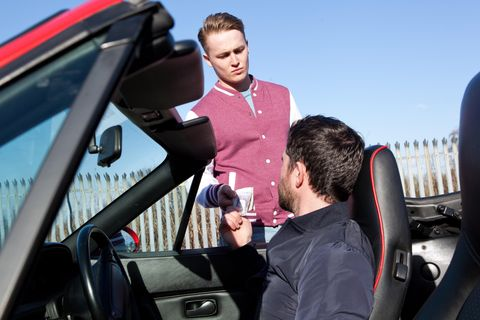 Motor vehicle, Automotive design, Automotive exterior, Glass, Automotive mirror, Vehicle door, Windshield, Automotive window part, Steering wheel, Hood,