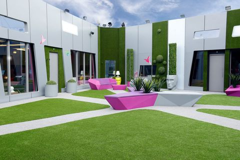 Grass, Magenta, Garden, Lawn, Yard, Backyard, Decoration, Door, Courtyard, Artificial turf,