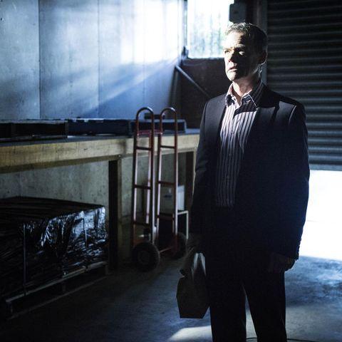 Collar, Standing, Dress shirt, Blazer, Street fashion, Suit trousers, Gas, White-collar worker, Tuxedo, Acting,