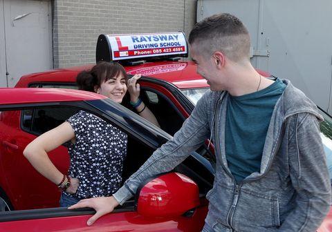 Motor vehicle, Automotive design, Red, Vehicle door, Carmine, Automotive tail & brake light, Automotive window part, Luxury vehicle, Service, Backpack,