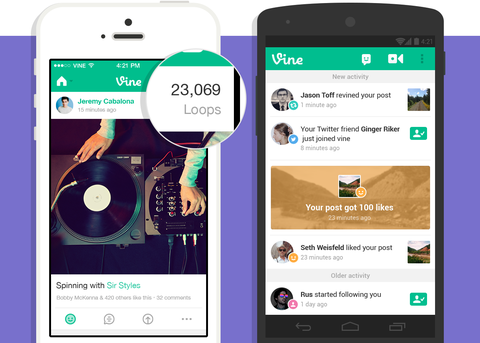 Is your video a hit? Vine adds loop counts