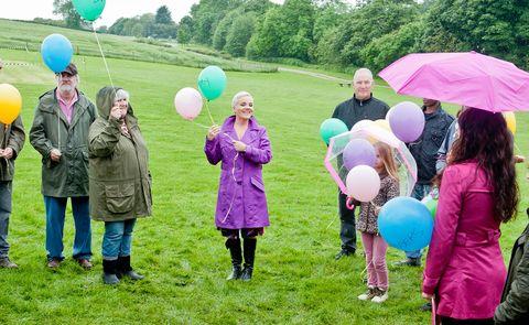 Green, Party supply, Balloon, Recreation, Pink, Leisure, Purple, Magenta, Boot, Umbrella,