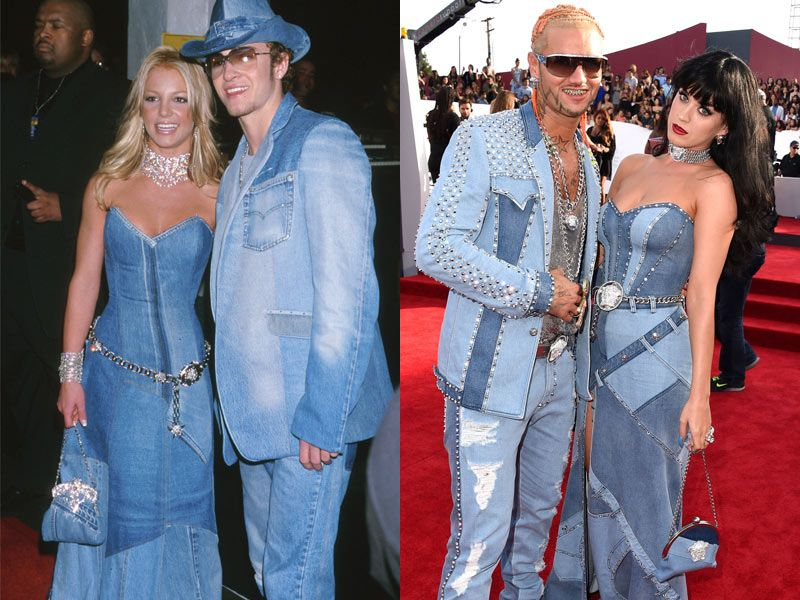 Perry Impersonates Britney In Denim Dress
