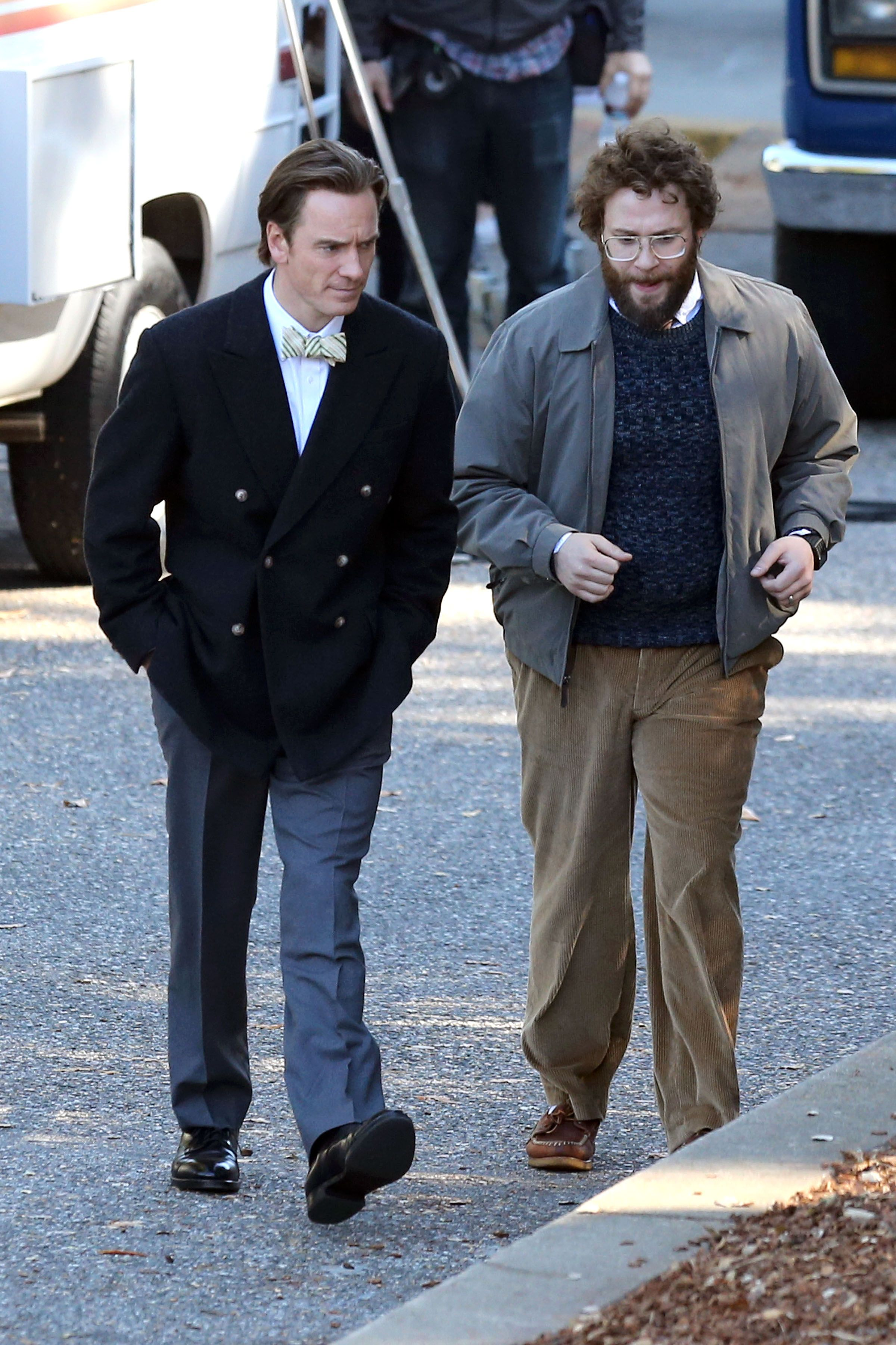 0f4745f6420 First look at Michael Fassbender and Seth Rogen in Steve Jobs
