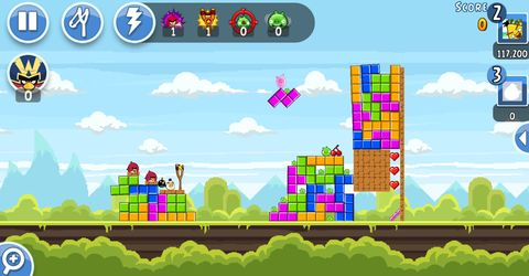Angry Birds levels inspired by retro games