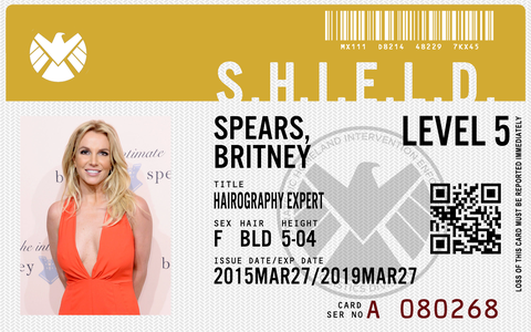 make agents of shield id badges with app