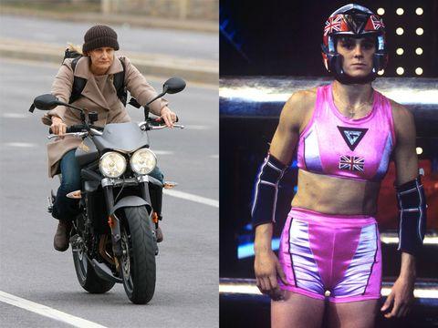 Eyewear, Helmet, Sunglasses, Fashion, Vehicle, Street fashion, Headgear, Motorcycle, Muscle, Footwear,