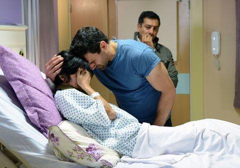 Comfort, Room, Patient, Hospital, Linens, Purple, Bedding, Service, Medical equipment, Bed,