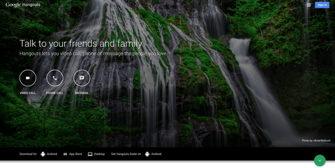 Google Hangouts gets its very own website