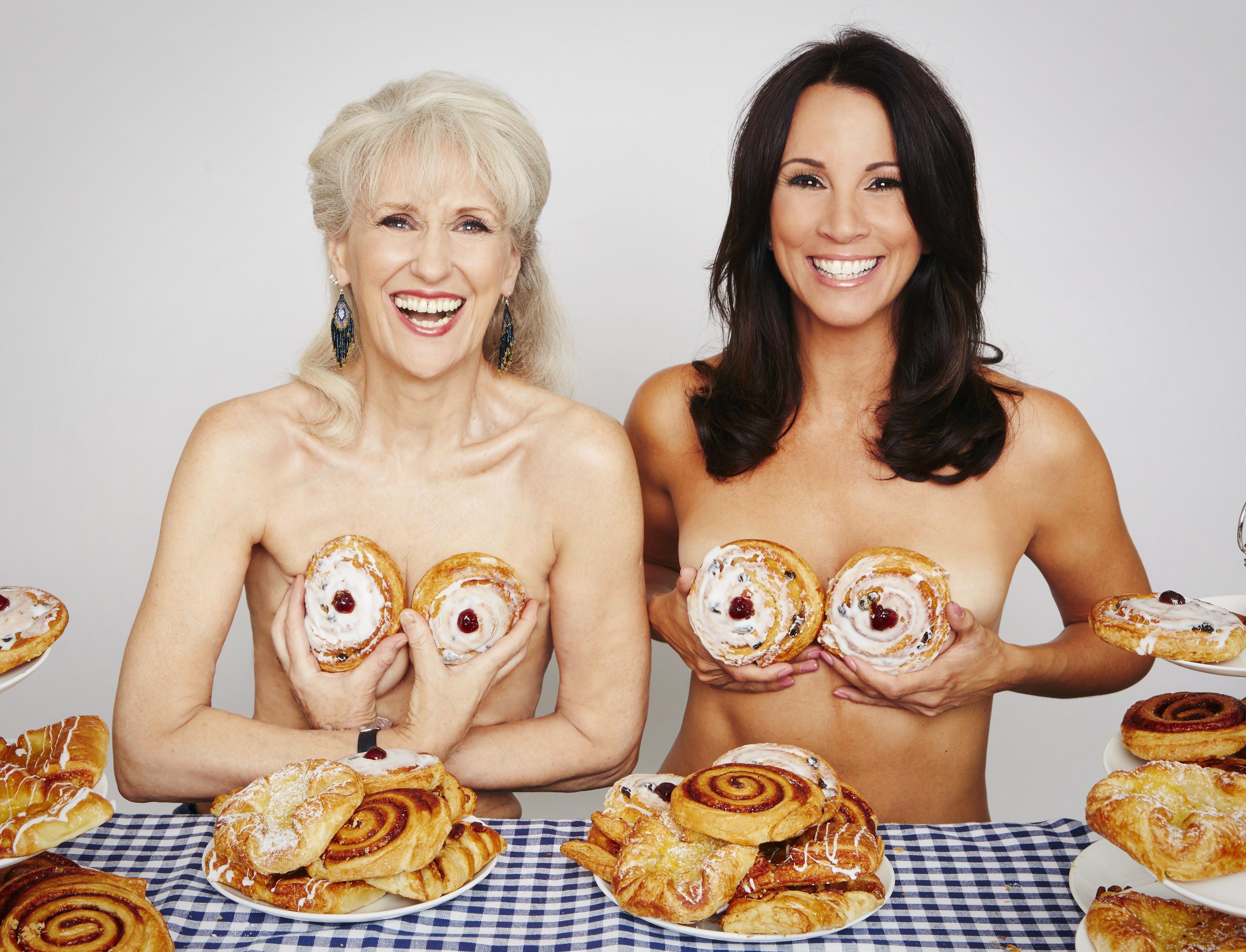 Andrea Mclean Topless loose women go topless as calendar girls