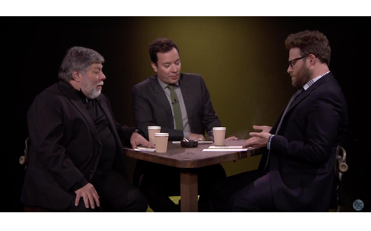 16151fe7220 See Seth Rogen play True Confessions with Apple co-founder Steve Wozniak