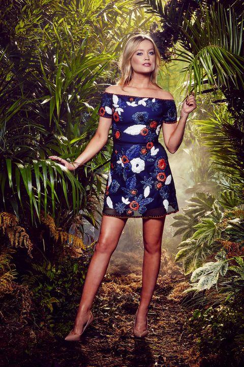 Clothing, Dress, Shoulder, Human leg, One-piece garment, Waist, Day dress, Beauty, Pattern, Cocktail dress,