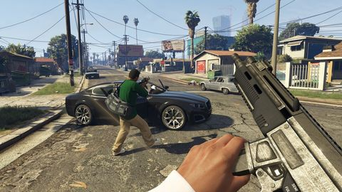 This GTA 5 virtual reality mod is absolutely brutal