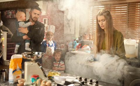 Cooking, Serveware, Toy, Beard, Family, Baby, Countertop, Bowl, Plastic bottle, Bottle,