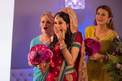 Facial expression, Fashion accessory, Tradition, Headgear, Bridal clothing, Marriage, Hair accessory, Ceremony, Bride, Headpiece,