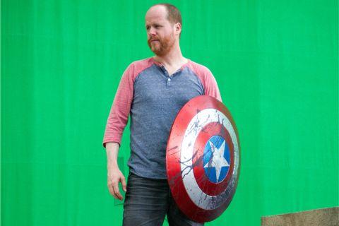 Joss Whedon on Avengers set