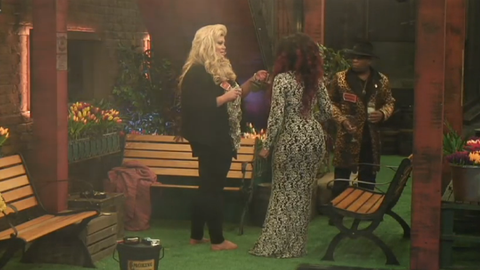 Celebrity Big Brother Gemma Collins Gives Tiffany Pollard Her Shoes As A Birthday Present
