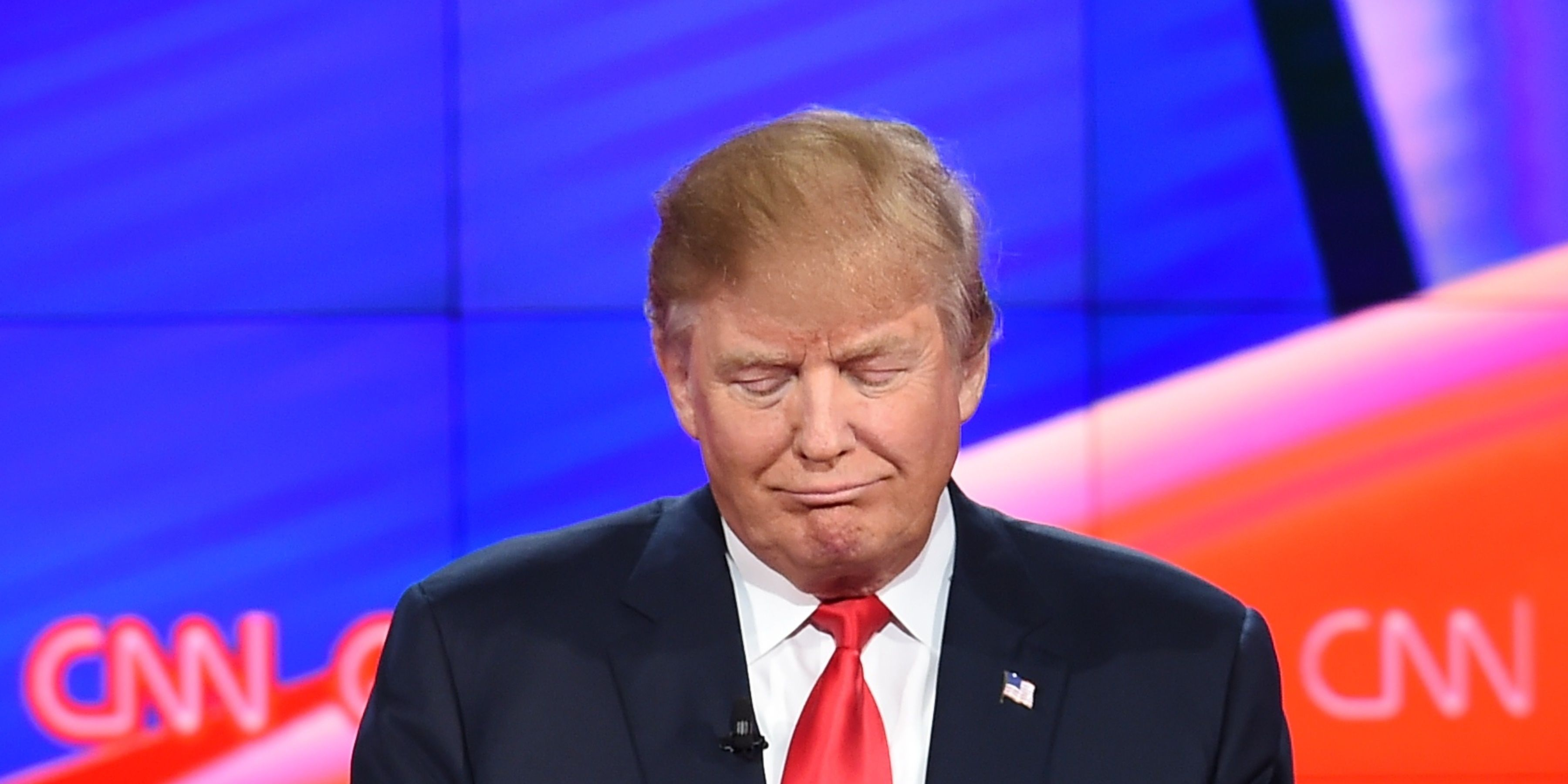 Donald Trump at the Republican Presidential Debate hosted by CNN