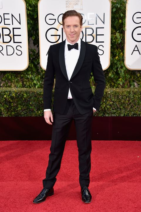 Damian Lewis arrives at the 73rd Annual Golden Globe Awards