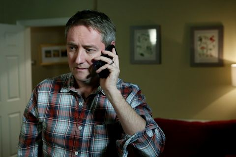 Wayne ignores Orla's concerns and puts a payment down on a car