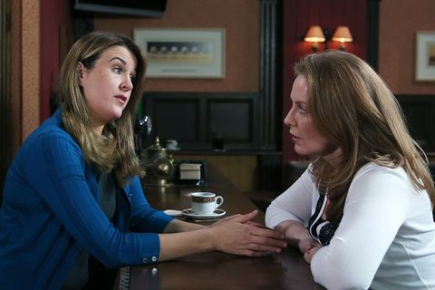 Orla worries to Niamh about Wayne returning to car sales
