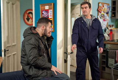 Cain catches Ross on the phone to Debbie