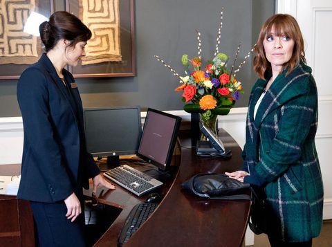 Rhona arrives at Paddy's hotel
