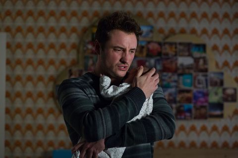 With Arthur in his arms, Martin feels guilty about what happened with Stacey