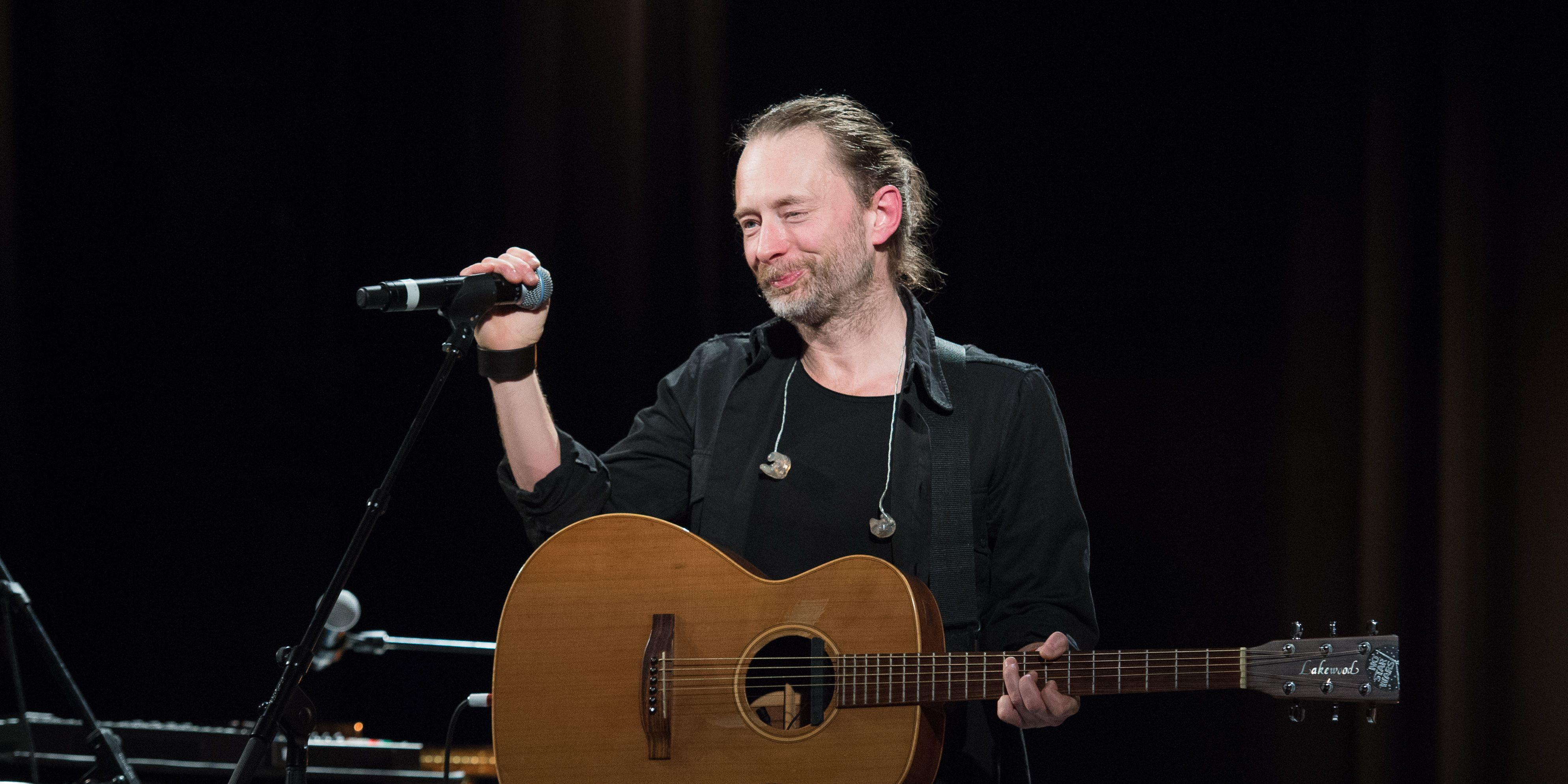 Thom Yorke performs during Pathway to Paris