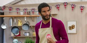 David James on The Great Sport Relief Bake Off