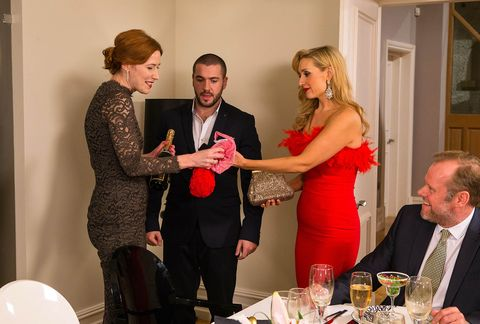Eva and Aidan realise they've been invited to a formal dinner party.