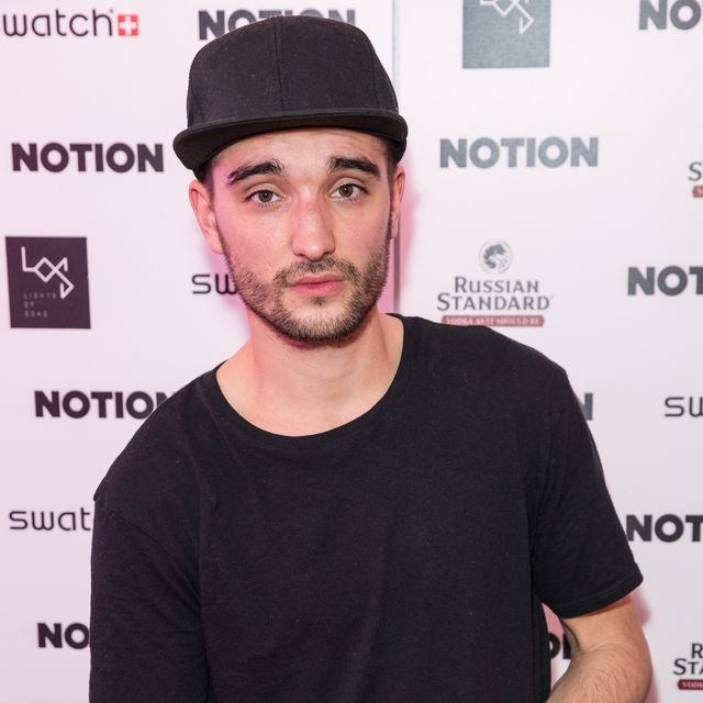 tom parker at notion magazine's christmas party