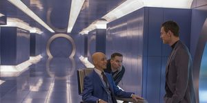 James McAvoy as Charles Xavier (Professor X) and Michael Fassbender as Erik Lehnsherr (Magneto)