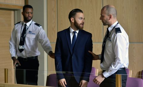 Dean arrives for his plea hearing