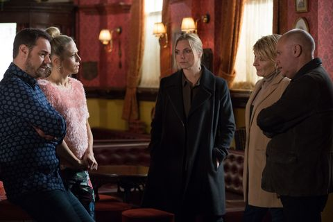 Shirley meets Ronnie and Linda and she tells them that she has been to see Dean and that he is going to plead guilty