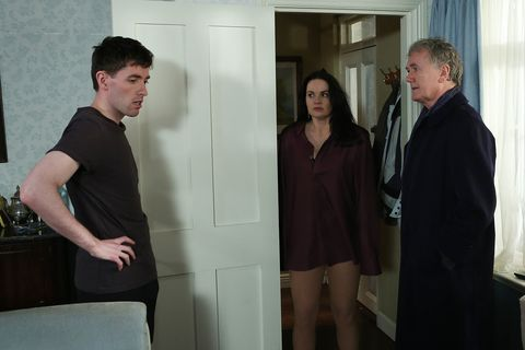 A stunned Bob catches Heather and Shane together