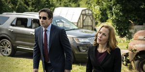 David Duchovny and Gillian Anderson in The X-Files miniseries episode 2: 'Founder's Mutation'