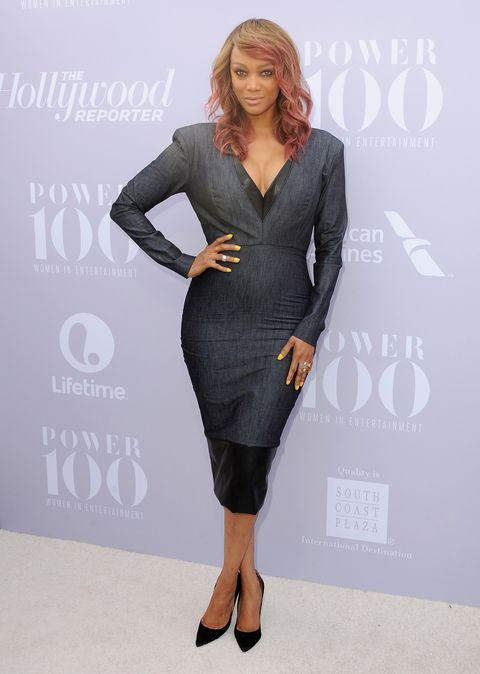 Tyra Banks arrives at The Hollywood Reporter's Annual Women In Entertainment Breakfast