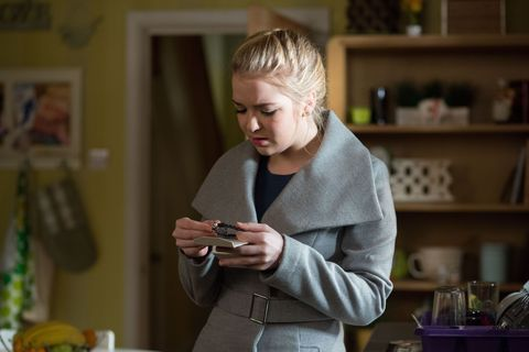 ​Abi finds a present that Ben has hidden but receives a shock when she sees what it is and realises it must be for Paul​
