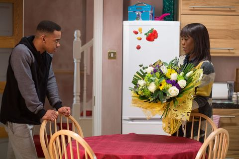 Denise asks Jordan to go and visit his dad in prison but he refuses